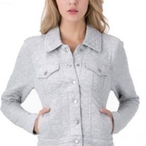 Levi's Heather Grey Quilted Trucker Jacket